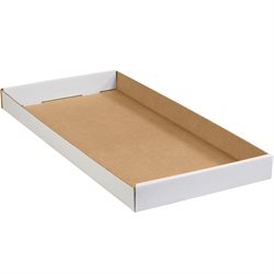 "24 x 12 x 1 3/4"" White Corrugated Trays"