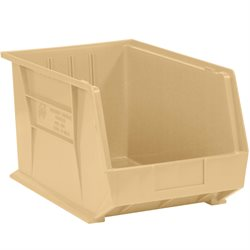 10 3/4 x 8 1/4 x 7 Ivory Plastic Stack & Hang Bin Boxes