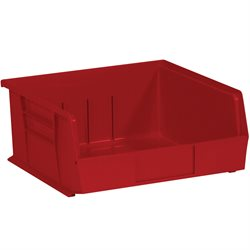 "10 7/8 x 11 x 5"" Red Plastic Stack & Hang Bin Boxes"
