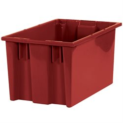 "16 x 10 x 8 7/8"" Red Stack & Nest Containers"