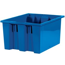 "17 x 14 1/2 x 9 7/8"" Blue Stack & Nest Containers"
