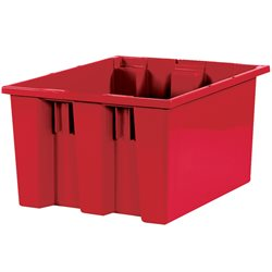 "17 x 14 1/2 x 9 7/8"" Red Stack & Nest Containers"