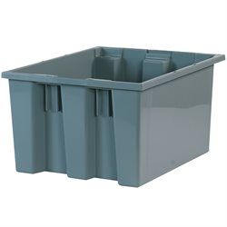 "17 x 14 1/2 x 9 7/8"" Gray Stack & Nest Containers"
