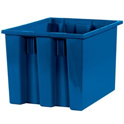 "17 x 14 1/2 x 12 7/8"" Blue Stack & Nest Containers"