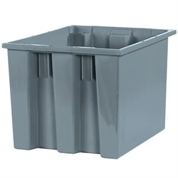"17 x 14 1/2 x 12 7/8"" Gray Stack & Nest Containers"
