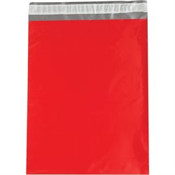 "12 x 15 1/2"" Red Poly Mailers"