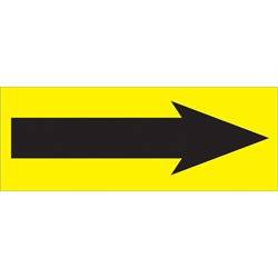 "1 1/2 x 4"" - ""Arrow"" Fluorescent Yellow Labels"