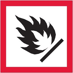 "1 x 1"" Pictogram - Flame Labels"