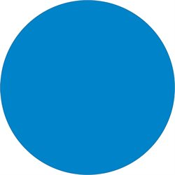 "1 1/2"" Light Blue Inventory Circle Labels"