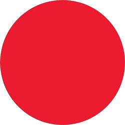 "1 1/2"" Fluorescent Red Inventory Circle Labels"
