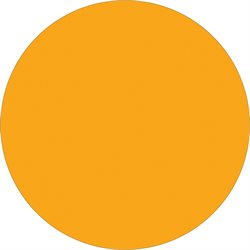 "1 1/2"" Fluorescent Orange Inventory Circle Labels"