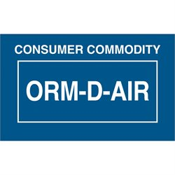 "1 3/8 x 2 1/4"" - ""Consumer Commodity ORM-D-AIR"" Labels"