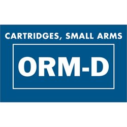 "1 3/8 x 2 1/4"" - ""Cartridges, Small Arms ORM-D"" Labels"