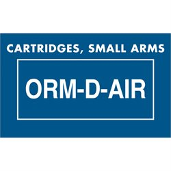 "1 3/8 x 2 1/4"" - ""Cartridges, Small Arms ORM-D-AIR"" Labels"