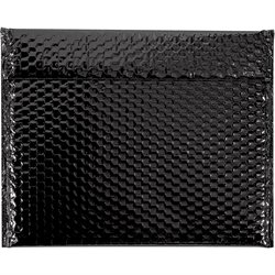 "13 3/4 x 11"" Black Glamour Bubble Mailers"