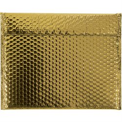 13 3/4 x 11 Gold Glamour Bubble Mailers
