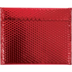 "13 3/4 x 11"" Red Glamour Bubble Mailers"