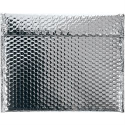 "13 3/4 x 11"" Silver Glamour Bubble Mailers"