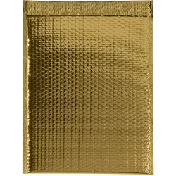 "13 x 17 1/2"" Gold Glamour Bubble Mailers"