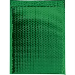 "13 x 17 1/2"" Green Glamour Bubble Mailers"