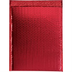 "13 x 17 1/2"" Red Glamour Bubble Mailers"