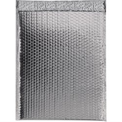 "13 x 17 1/2"" Silver Glamour Bubble Mailers"