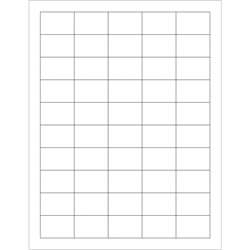 "1 1/2 x 1"" White Rectangle Laser Labels - Master Case"