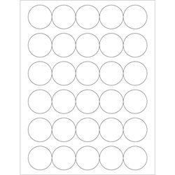 "1 1/2"" Glossy White Circle Laser Labels"