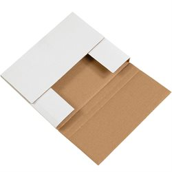 "10 1/4 x 8 1/4 x 1 1/4"" White Easy-Fold Mailers"