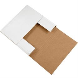 "12 1/2 x 12 1/2 x 2"" White Easy-Fold Mailers"