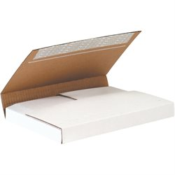 "11 1/8 x 8 5/8 x 2"" White Deluxe Easy-Fold Mailers"