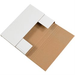 "12 1/8 x 9 1/8 x 2"" White Easy-Fold Mailers"