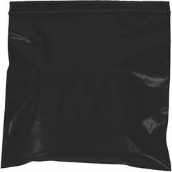 "10 x 12"" - 2 Mil Black Reclosable Poly Bags"