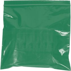 "10 x 12"" - 2 Mil Green Reclosable Poly Bags"