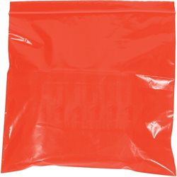 "10 x 12"" - 2 Mil Red Reclosable Poly Bags"