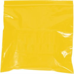 "10 x 12"" - 2 Mil Yellow Reclosable Poly Bags"
