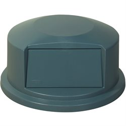 32 Gallon Brute® Container Domed Lid - Gray