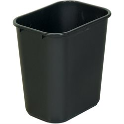 28 Quart - Black Deskside Wastebasket