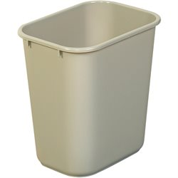 28 Quart - Beige Deskside Wastebasket