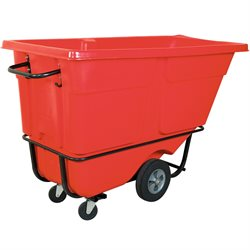 Rubbermaid® 1 Cubic Yard - Red Standard Grade Tilt Truck