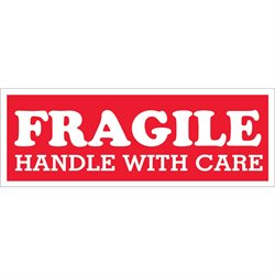 "1 1/2 x 4"" - ""Fragile  - Handle With Care"" Labels"