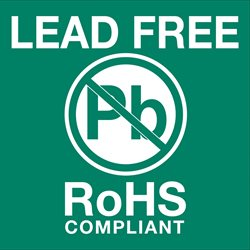 "2 x 2"" - ""Lead Free RoHs Compliant"" Labels"