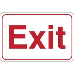 """Exit"" 6 x 9"" Facility Sign"