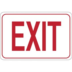 """EXIT"" 7 x 10"" Facility Sign"