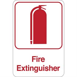 """Fire Extinguisher"" 9 x 6"" Facility Sign"