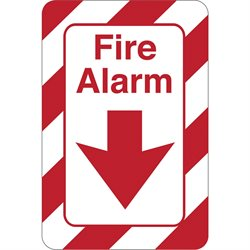 """Fire Alarm"" 9 x 6"" Facility Sign"