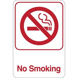 """No Smoking"" 9 x 6"" Facility Sign"