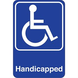 """Handicapped"" 9 x 6"" Facility Sign"