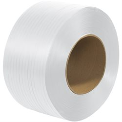 "1/4"" x 18000' - 8 x 8"" Core Machine Grade Polypropylene Strapping - Embossed"