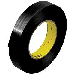 "1"" x 60 yds. (12 Pack) 3M 890MSRB Black Strapping Tape"